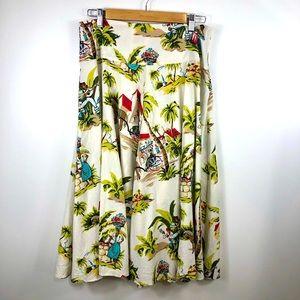 Tommy Bahama Tropical Caribbean Print Skirt